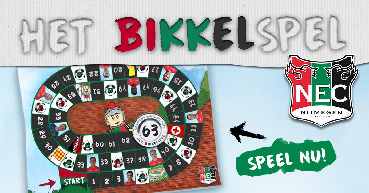 Speel nu het Bikkelspel van N.E.C.!