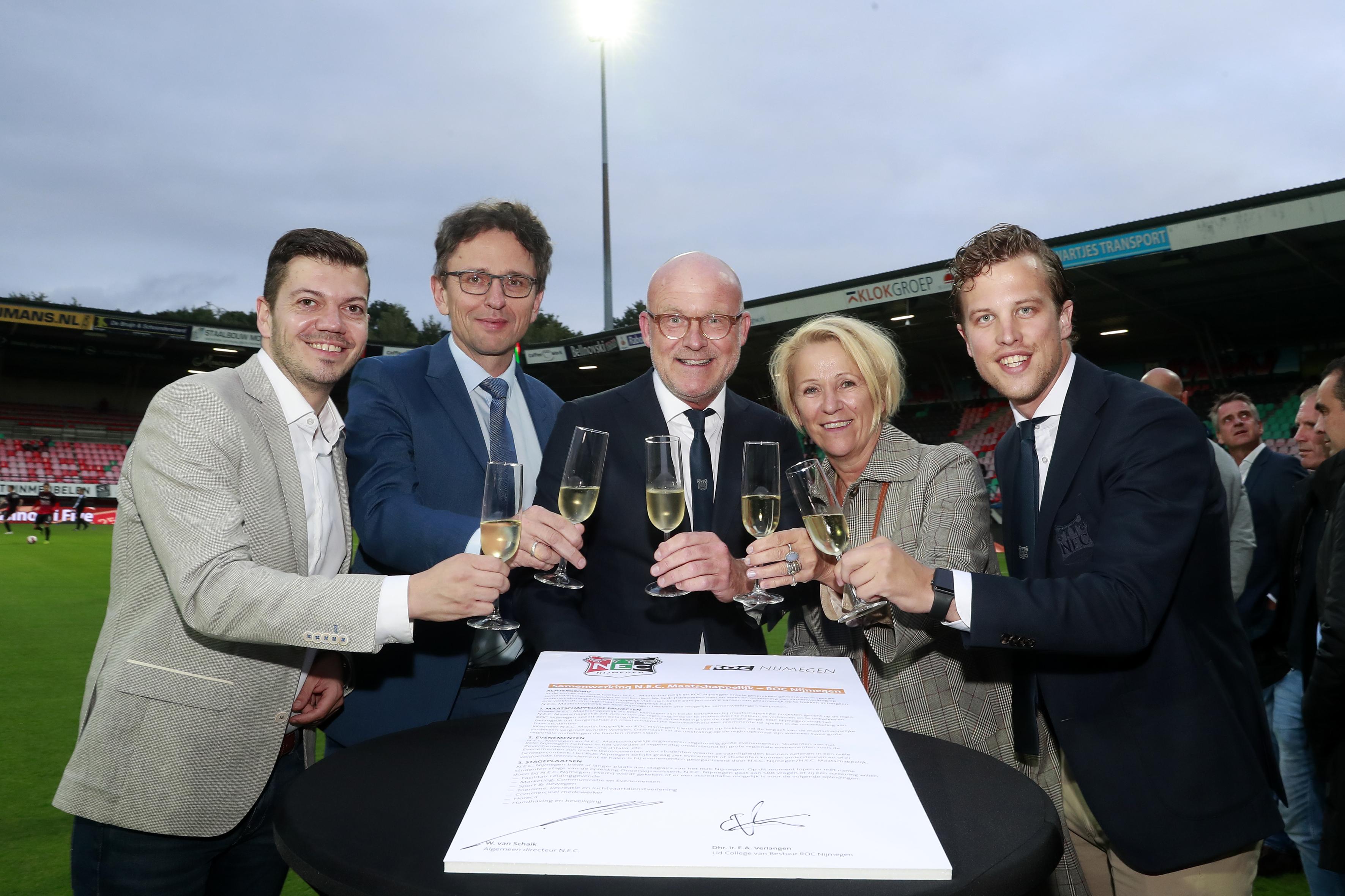 N.E.C. en ROC Nijmegen gaan samenwerking aan