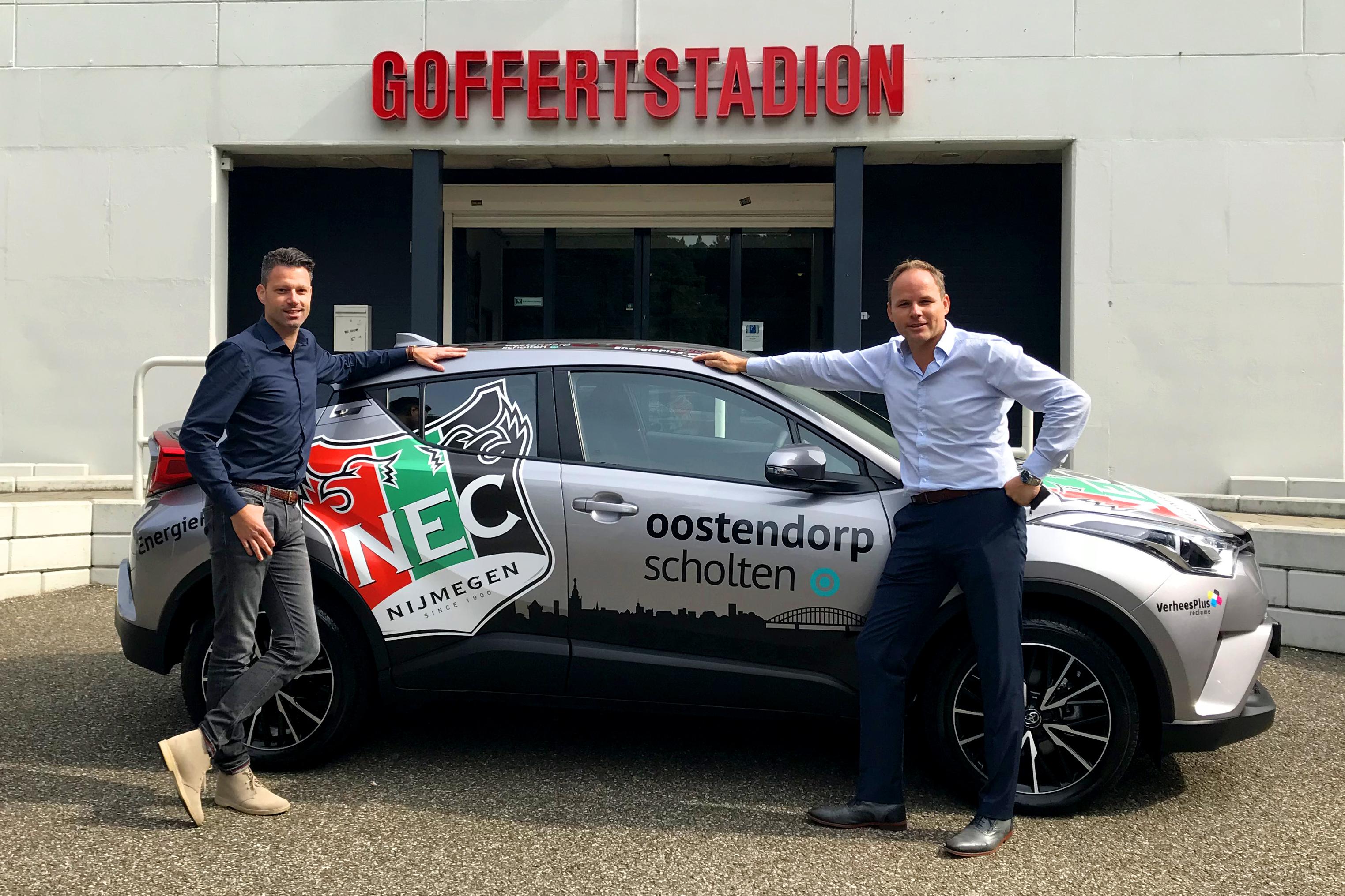 Toyota Garage Nijmegen : N.e.c. oostendorp scholten levert nieuwe toyota c hr aan n.e.c.